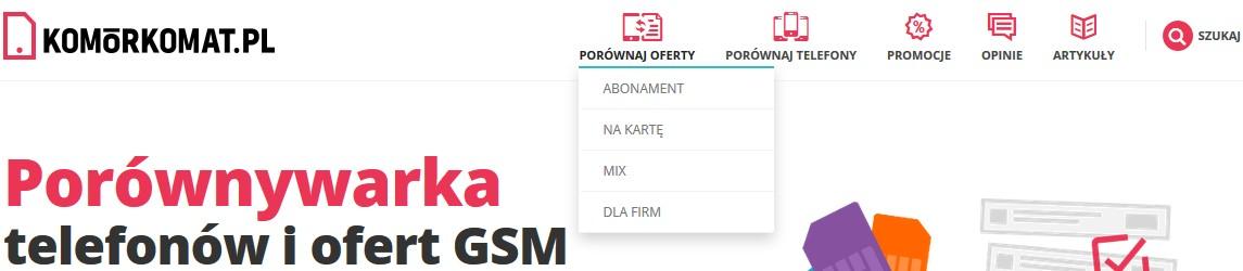Recenzja porównywarki komorkomat.pl